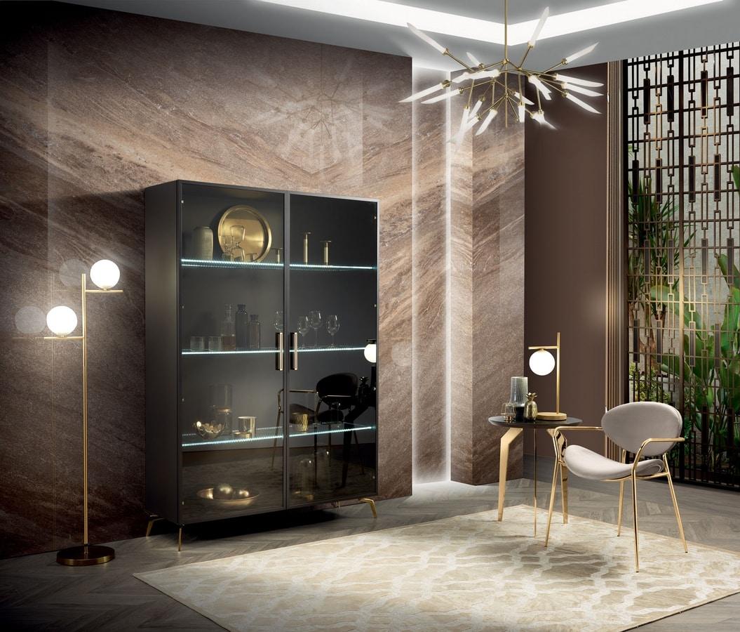 Incanto display cabinet, Elegant display cabinet with a contemporary design