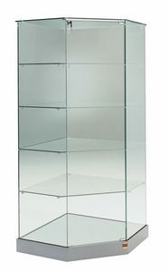 Laminato 182/AG, Corner glass showcase