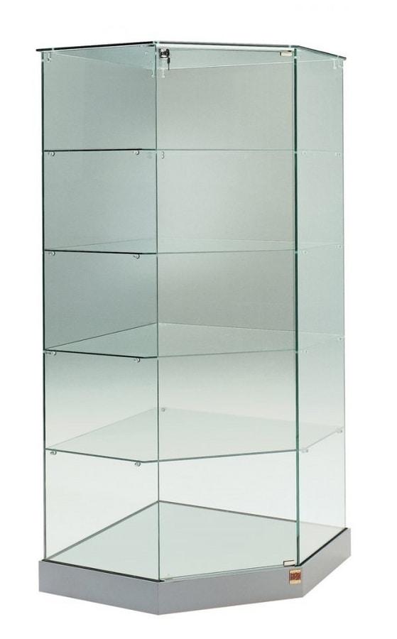 Laminato 182/AG, Corner glass showcase