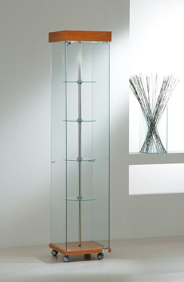 Laminato Light 4/18G, Showcase with swivel shelves
