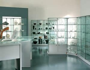 Laminato 130/CS, Showcase, customizable showcases, exhibitorModern showcase, customizable, exhibitor for shops
