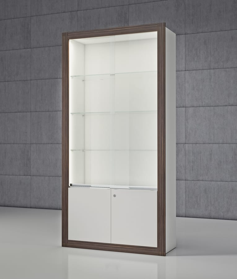 Ante Scorrevoli In Plexiglass.Modular Showcase With Sliding Doors Idfdesign