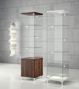 Quadratum Q/45 - Q/45M, Display cabinets,  showcase modern, for jewelery