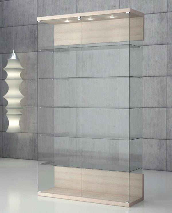 Quadratum VE/120, Showcase in tempered glass, with lock