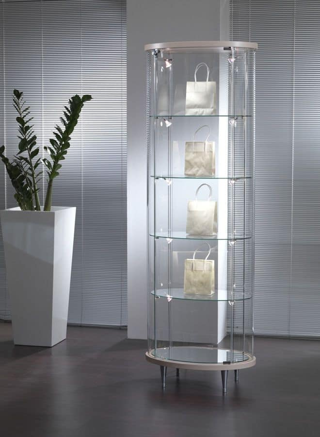 Glass Showcase, For Shops And Living Rooms