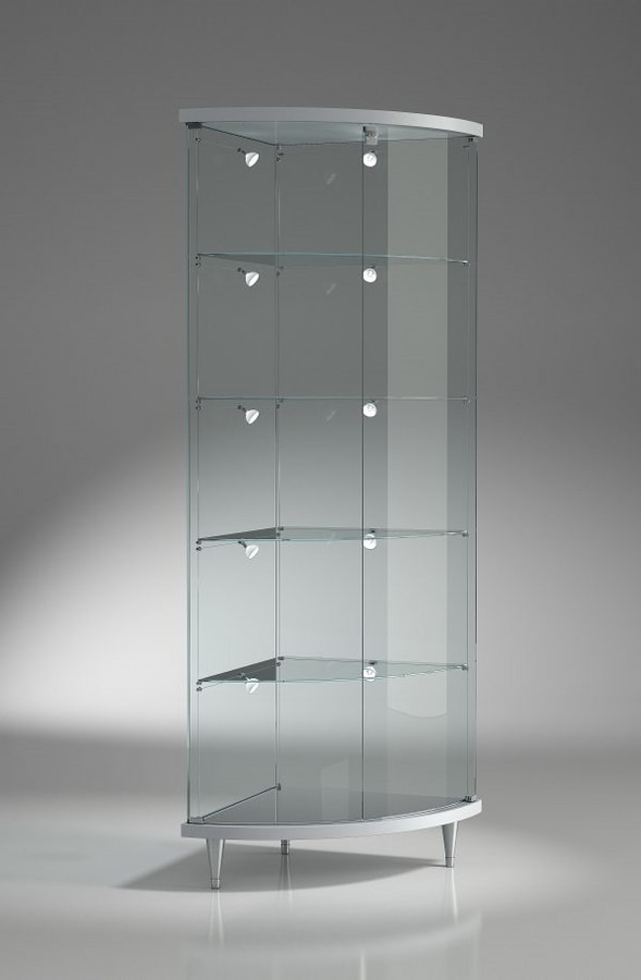 Top Line 3 203/AN, Corner display cabinet, with adjustable shelves