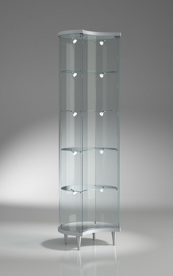 Top Line 3 203/ML, Half-moon display cabinet, with adjustable shelves