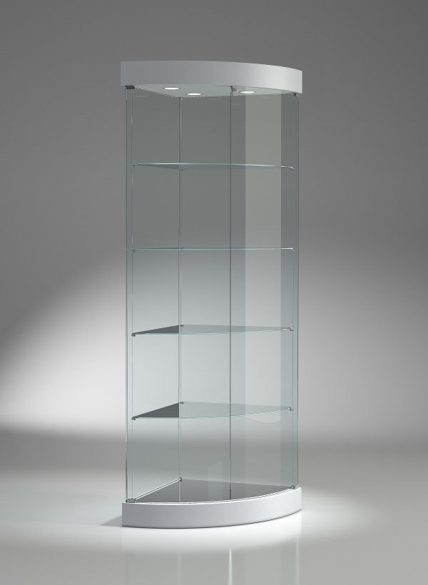 Top Line 9 209/AN, Corner display cabinet with retractable wheels