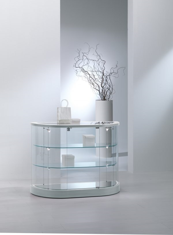 Top Line 9 209/MB, Low showcase, with semi-oval base