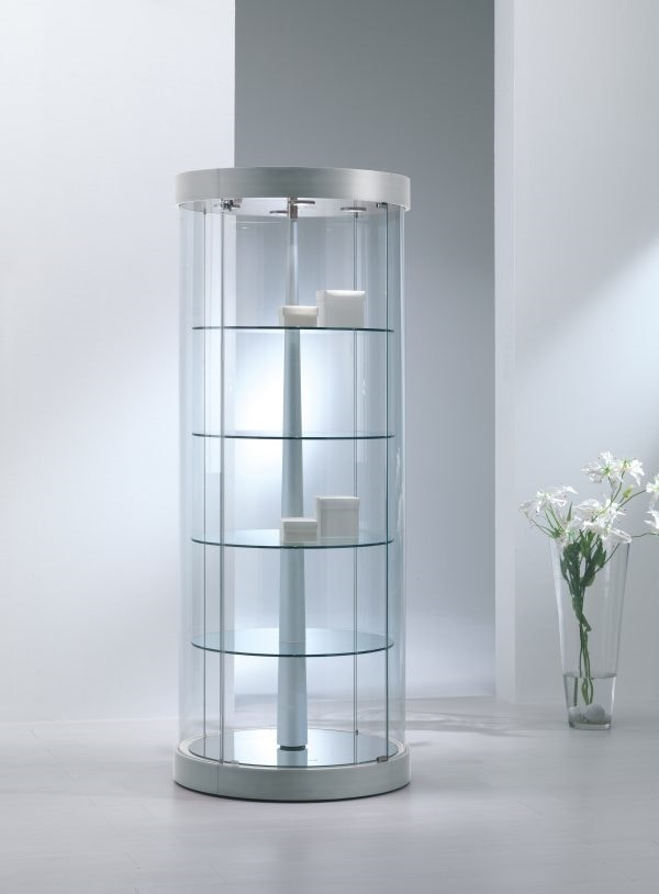 Top Line 9 209/RG, Round display cabinet with motorized rotating shelves