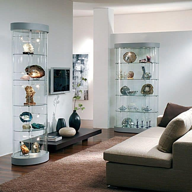 Top Line 9 mod.9, Exhibitors, showcases glass, mirror base, for shops