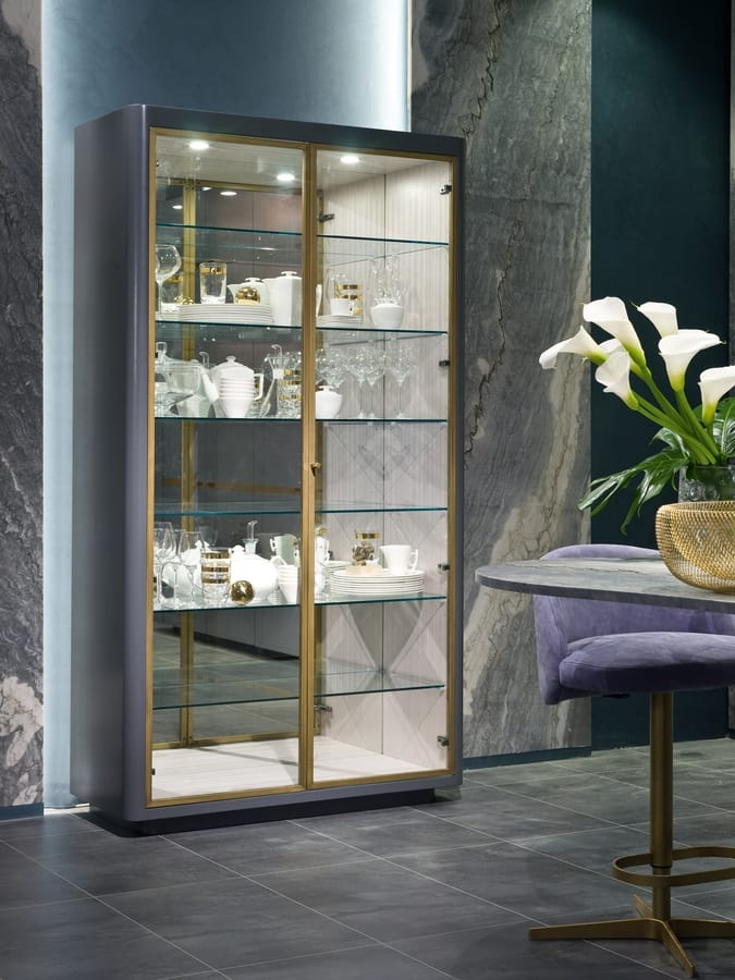 VE47 Optical Skin display cabinet, Showcase with integrated light