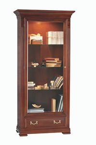 Villa Borghese display cabinet 7362, Wooden showcase with integrated light