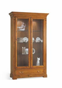 Villa Borghese display cabinet 7373, Classic showcase, with two doors