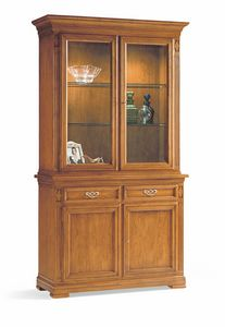 Villa Borghese display cabinet 7374, Cabinet with display unit, for living room