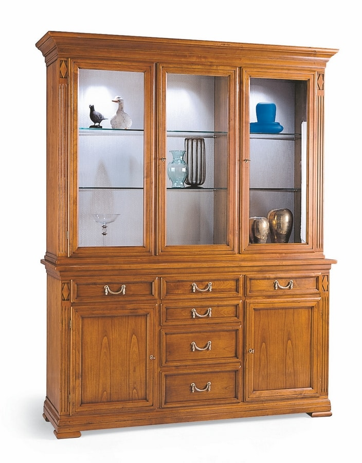 Large Display Cabinet With Three Doors