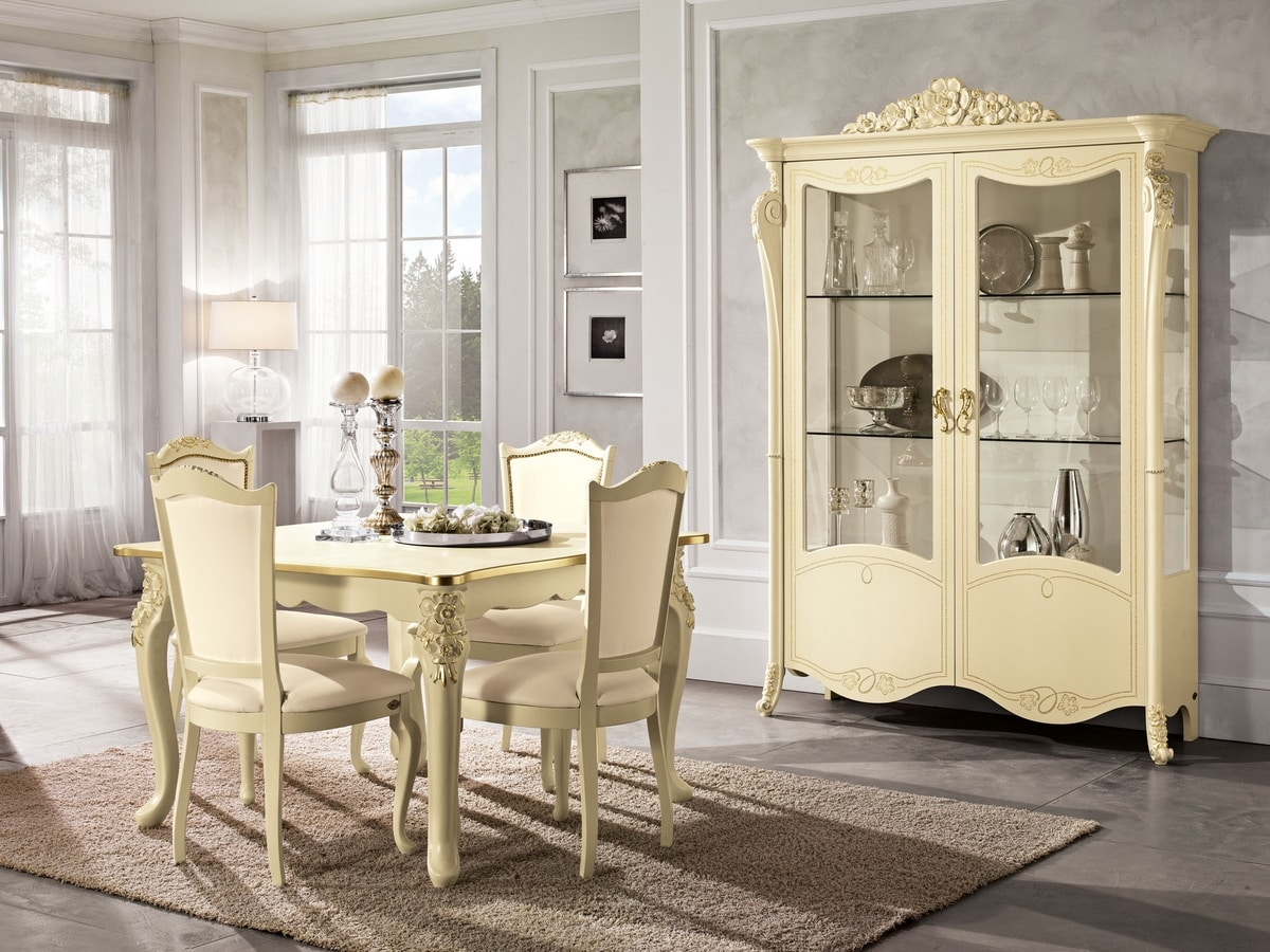 Viola display cabinet, Showcase in neoclassical style