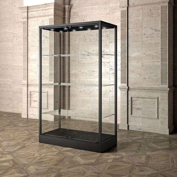 Museum MU/120FC, Display showcase with glass shelves