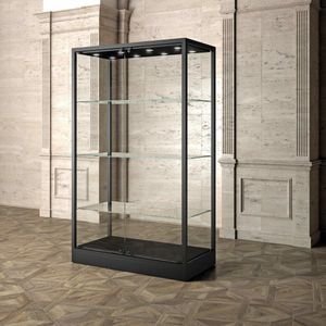 Museum MU/120FC, Display showcase with glass shelves
