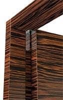 Brera, Door in ebony wood, hinges, door coplanar