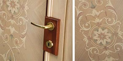 Cannes, Door with handmade inlays, classic style, for prestigious hotels