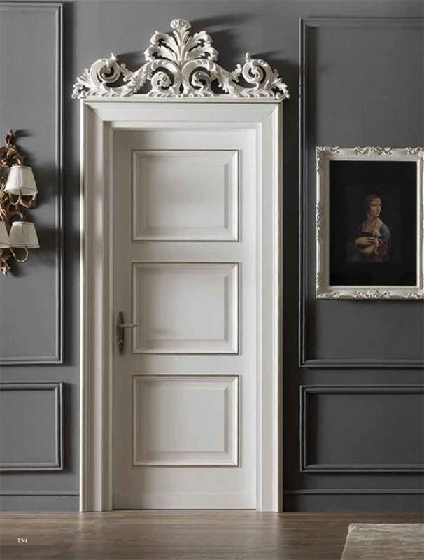 Carracci Art. 2016/QQ, Door with baroque carvings