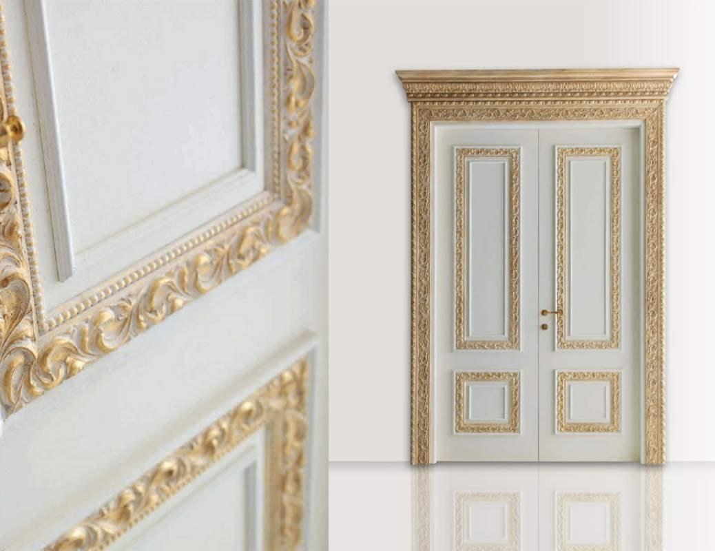 Castiglione Art. 1344/QQ, Elegant door with bleached gold decorations