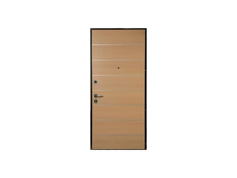 Cernobbio, Security door, bleached oak wood finish, for hotel rooms