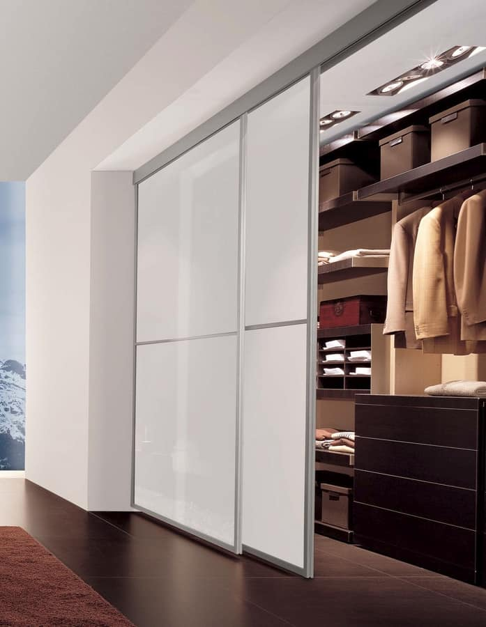 Sliding Doors With Aluminum Frame For Walk In Closet