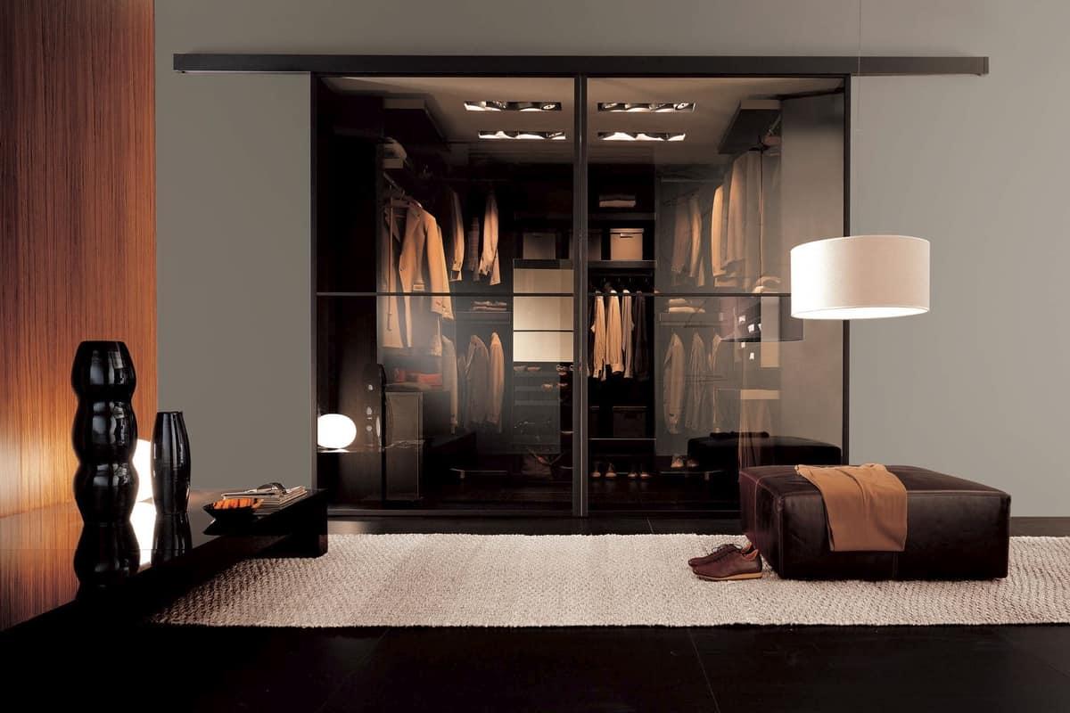 Closing Doors For Walk In Closet Sliding With Aluminum Frame