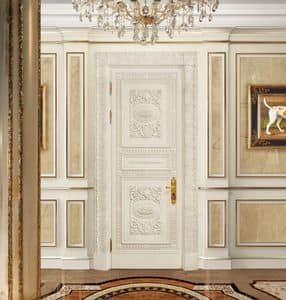 Corona White, Classical carved door, lacquered and coated