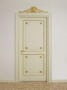DOOR ART. PT 0002 - PT 0003, Lacquered doors with golden decorations, for luxury hotels