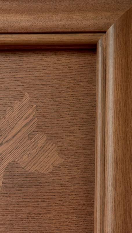 Hyde Park Art. 901/QQ/HP, Oak door with handcrafted decorations