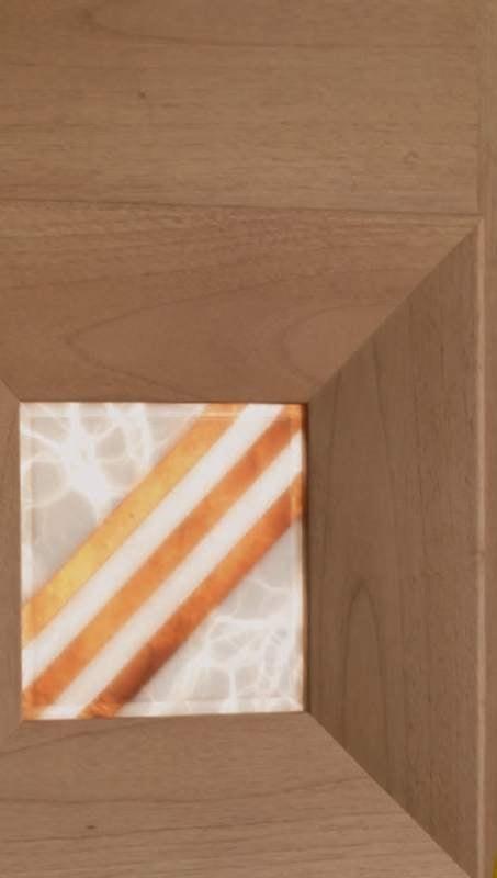 Mondrian Art. 913/QQ/04, Door with decorative alabaster insert