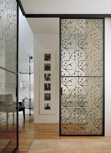 p100 buenos aires, Sliding glass door for masonry, aluminum frame