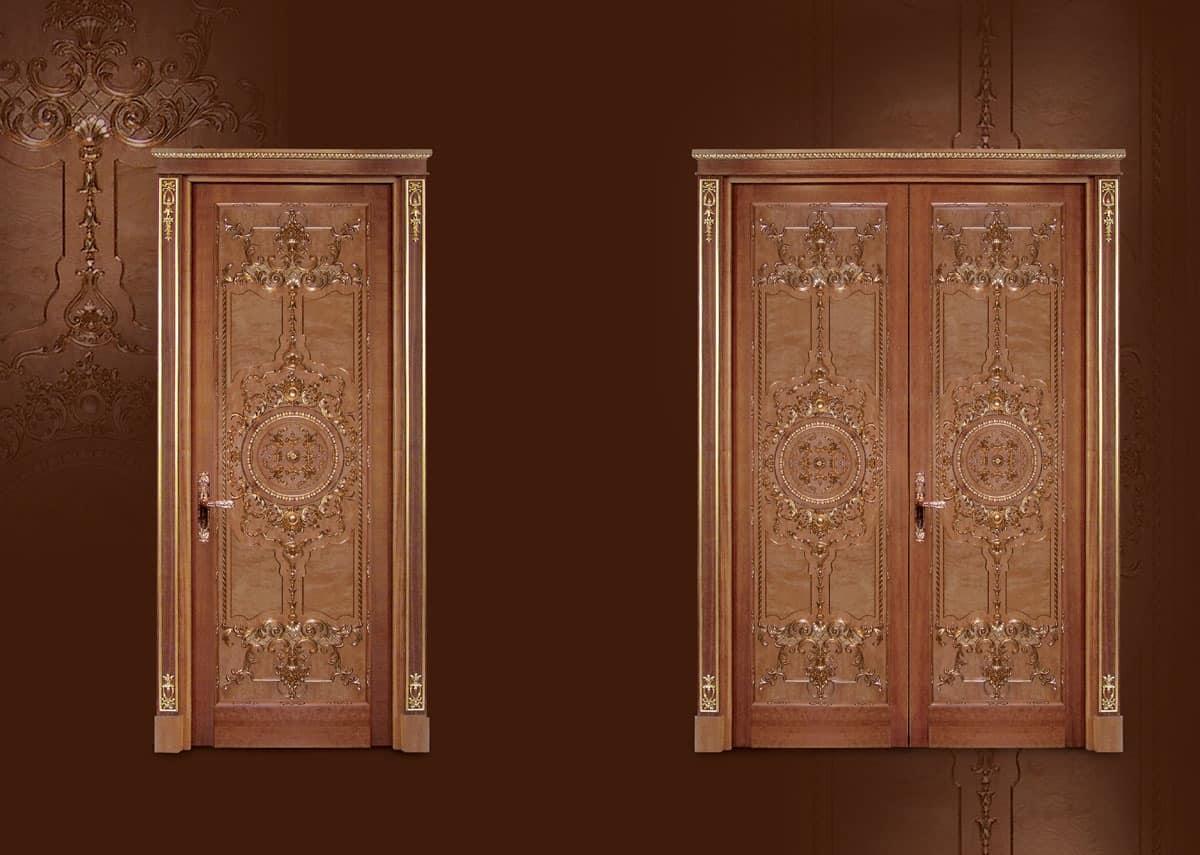 P100 Door, Carved door for Living in classic luxury style