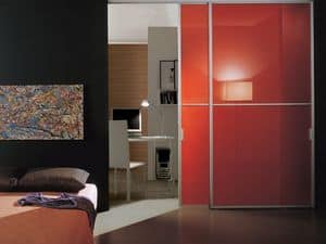p100 lima, Sliding door glass and aluminum, for household
