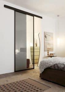 p100 bogota, Sliding glass door with aluminum frame