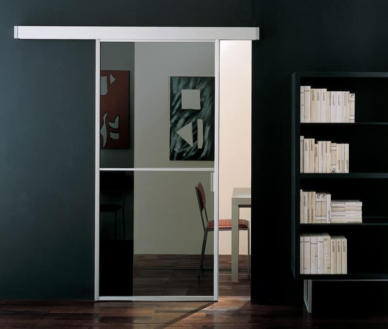 p100 rio de janeiro, Doors for masonry in aluminum, for office