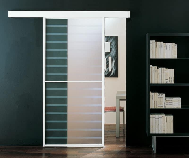 p100 santiago, Customizable glass sliding door