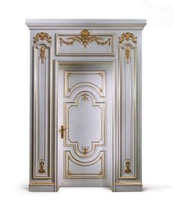 P102 Door, Wooden door painted white, for classic entrance