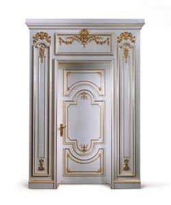 P102 Door, Wooden door painted white, for classic entrance