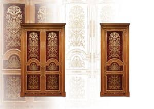 P105 Door, Inlaid door with double doors for classic living room