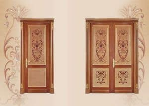 P108 Door, Door in inlaid wood, classical luxury style