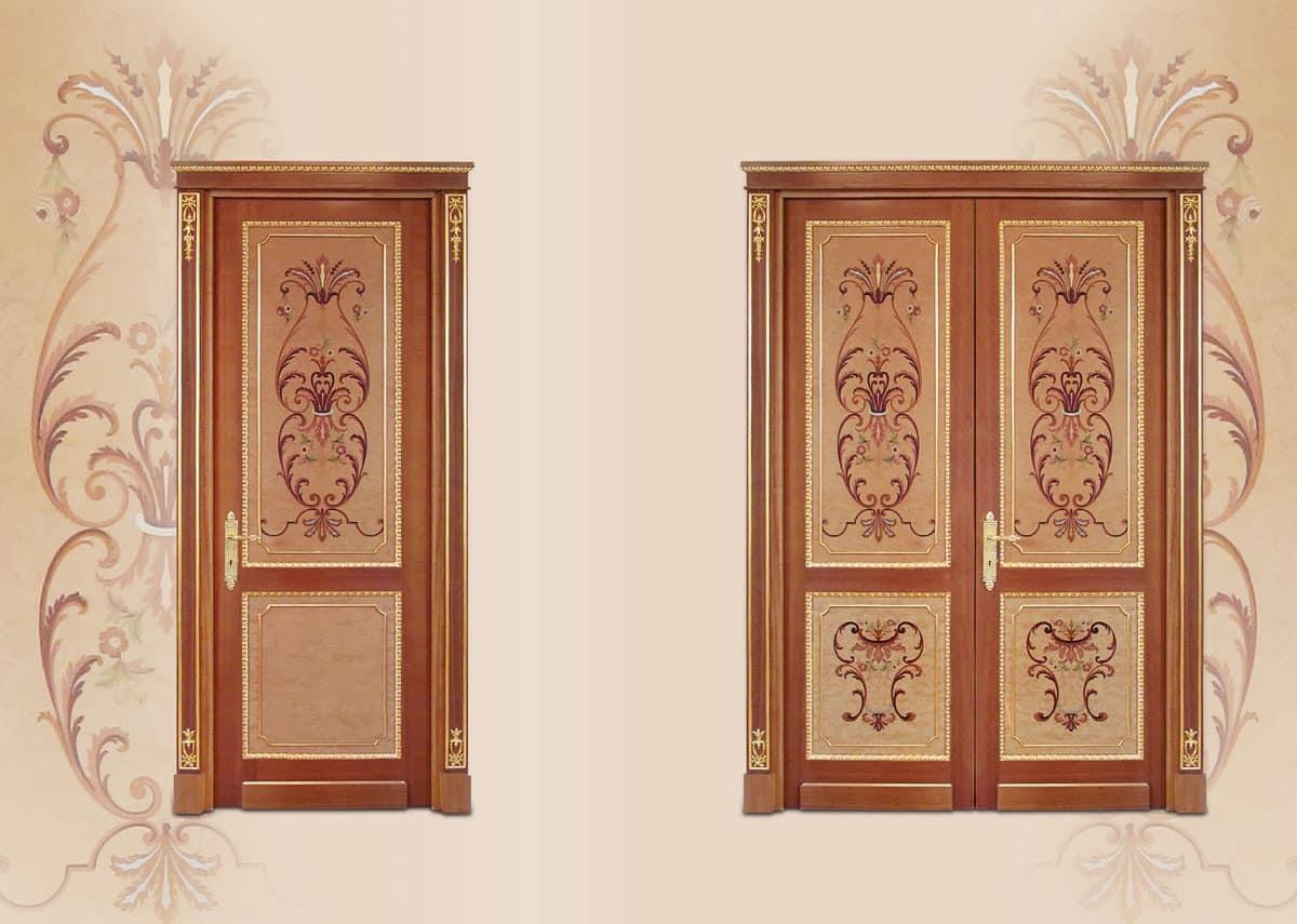 P108 Door, Door in inlaid wood, classical luxury style