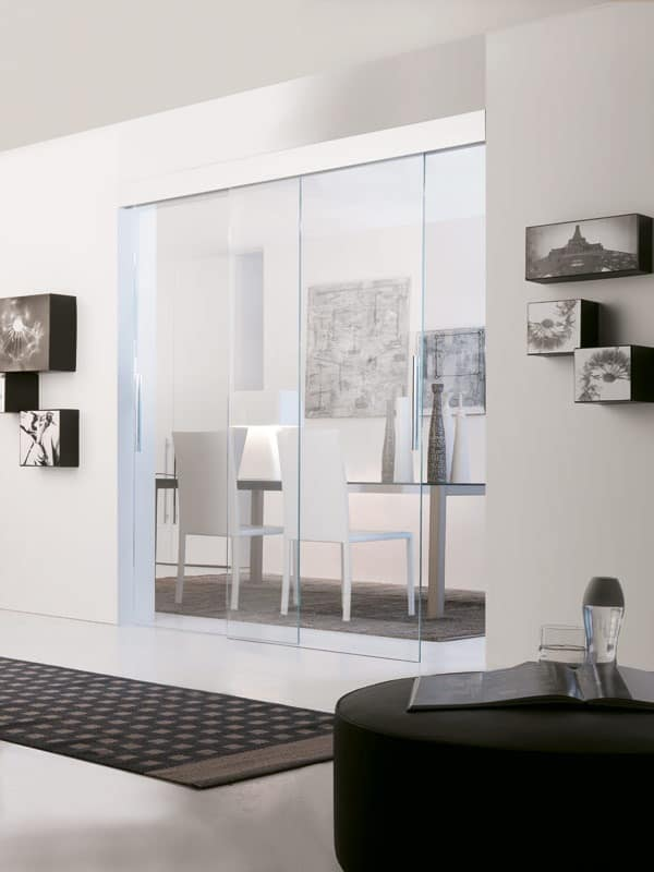 p400 haiti, Sliding door with ceiling mounting, double handle