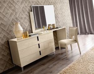 Ambra dressing table, Dressing table with 3 drawers and mirror
