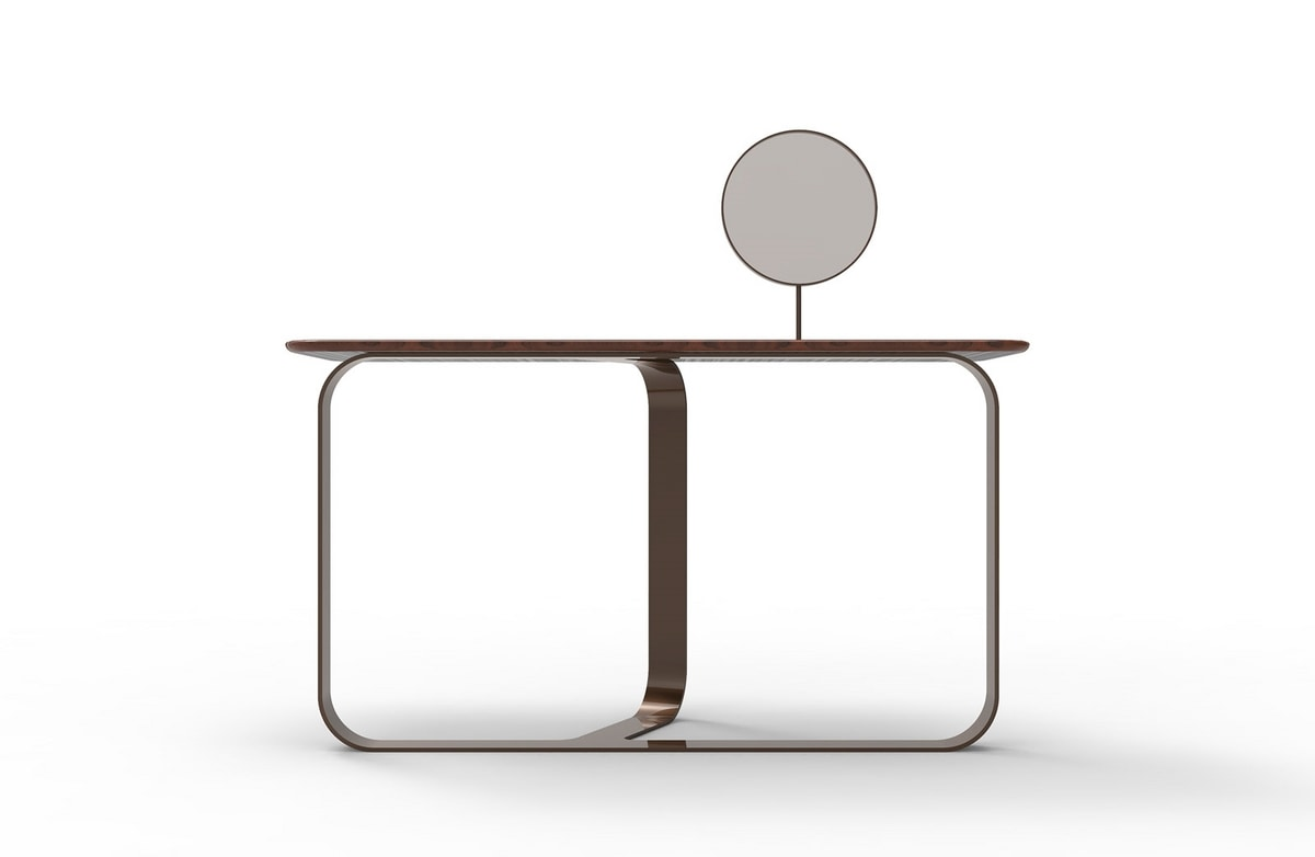 CHLOÉ vanity, Dressing table with round mirror