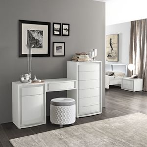 Dama Bianca dressing table, Ddressing table with drawers