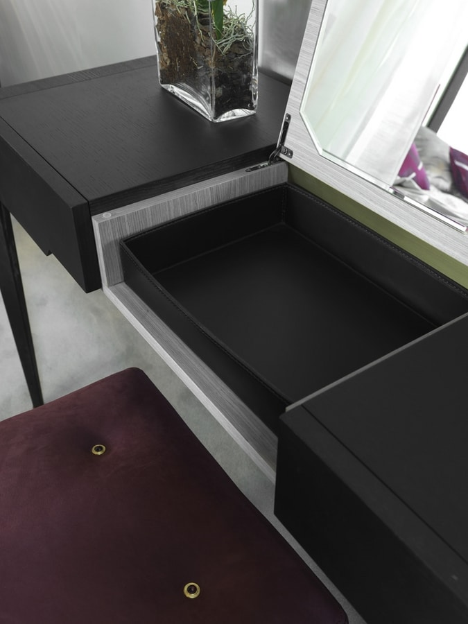 FRINE Vanity, Make-up console with storage compartment